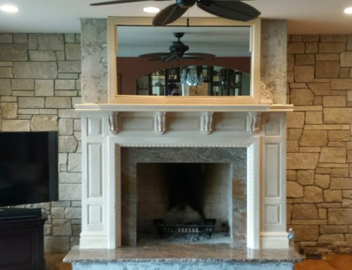 Fireplace and Stone wall