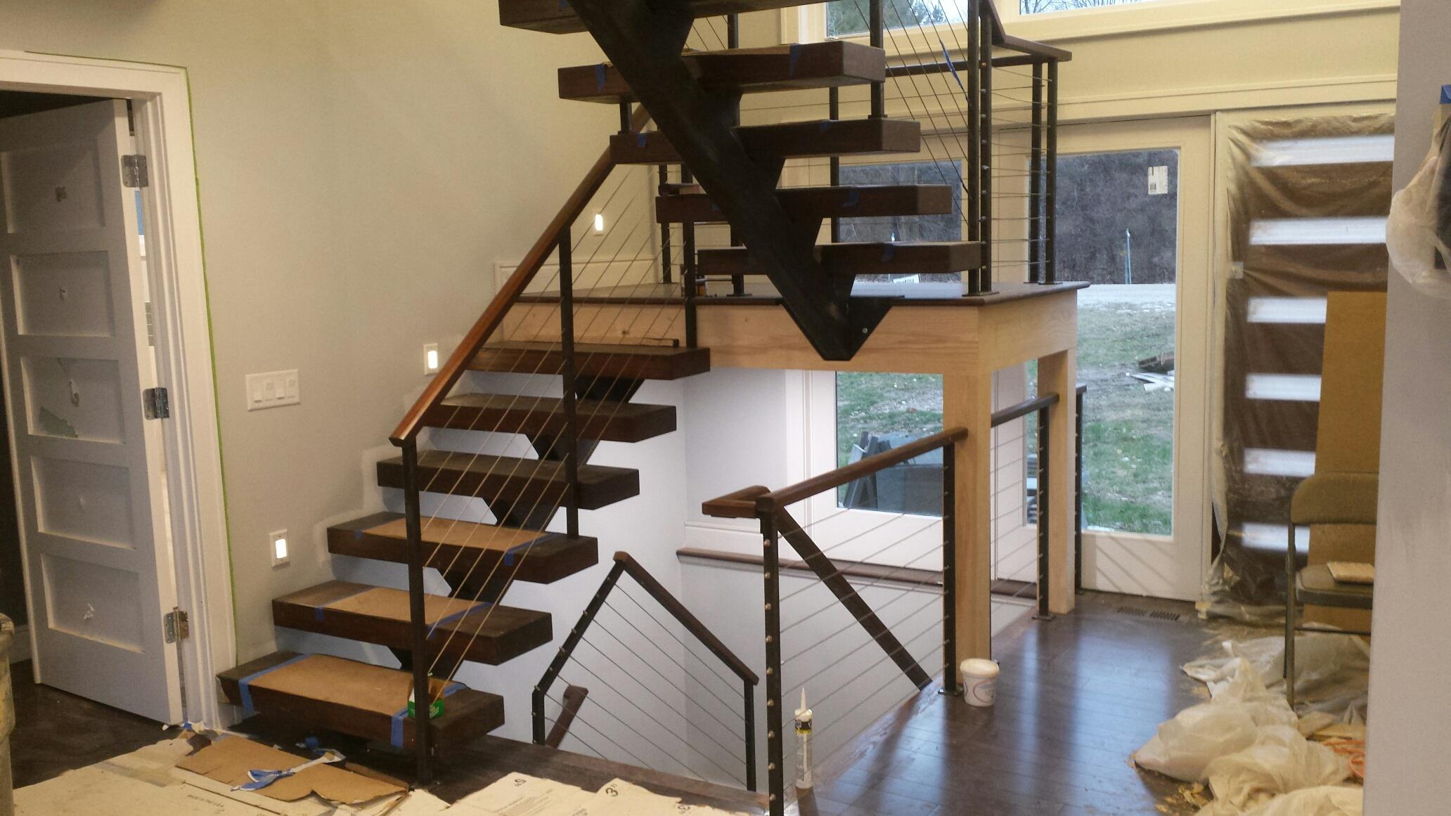 Center Beam Staircase